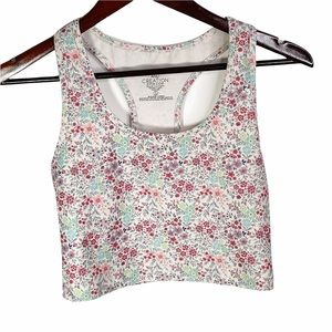 Evolution and Creation Floral Crop Top Small